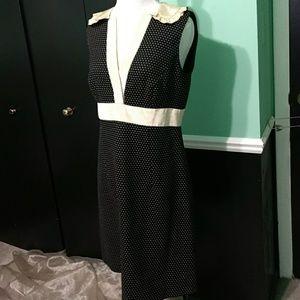 Nanette Lepore secretary dress polka dots ruffles